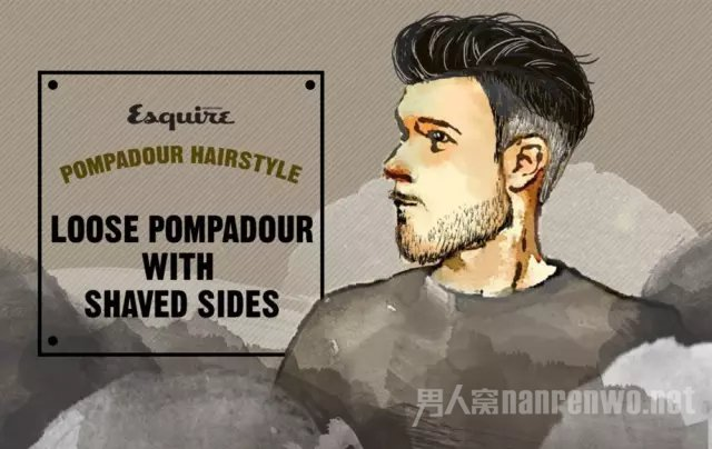 Loose Pompadour With Shaved Sides